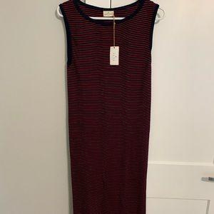 Boat neck shift dress